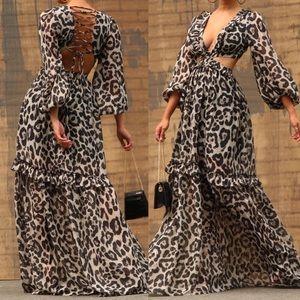 🚨24 HOUR SALE🚨Paradise Calls Leopard Maxi Dress